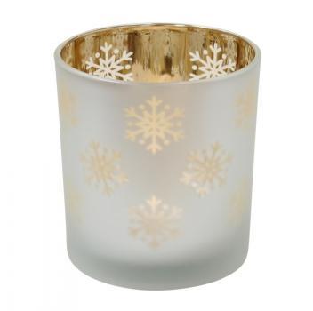Teelicht Schneeflocke von Krasilnikoff