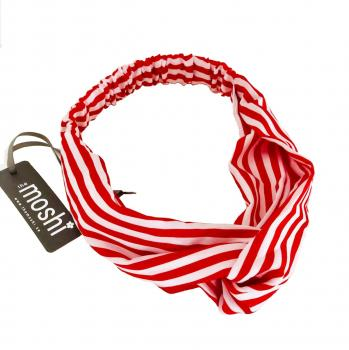 Haarband Candy Red Strip von the moshi