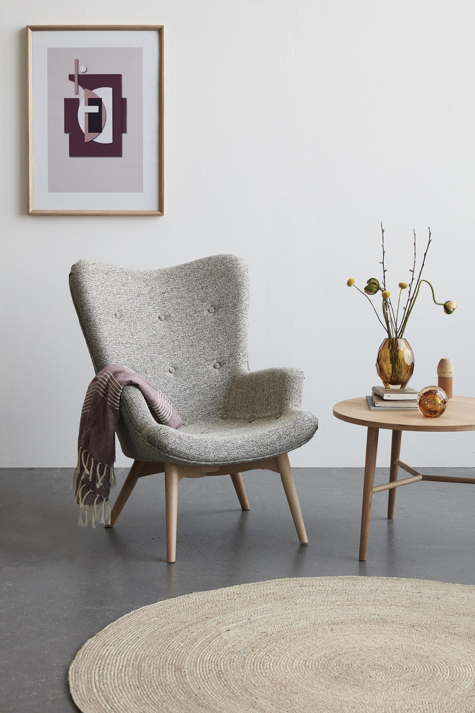 Baumwolldecke Wolly von Hübsch Interior